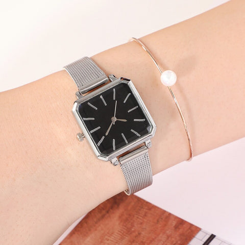 Square Fashion Bracelet Silver Women Watches 2019 Luxury.