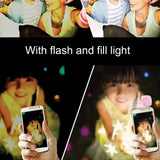 Universal Selfie LED Ring Flash Light Portable Mobile Phone 16 LEDS Selfie Lamp Ring Clip For iPhone 8 7 6 Plus Samsung.