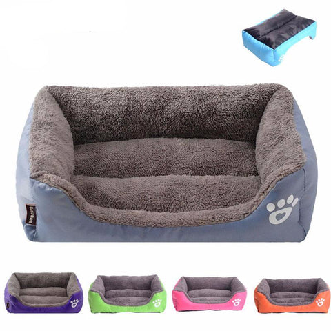 S-3XL Candy Color Paw Pet Sofa Dog Beds Waterproof