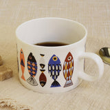 Northern blue fish European style simple mug