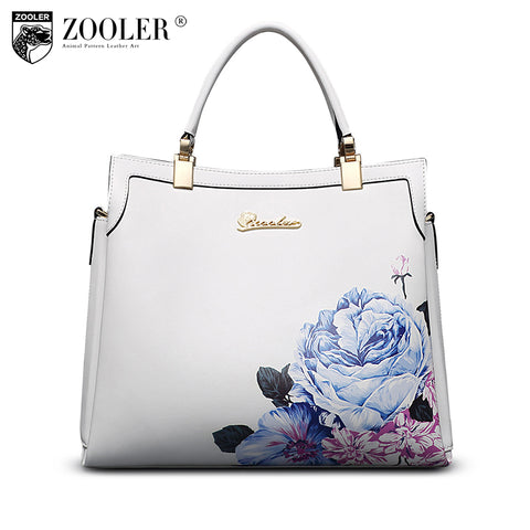 ZOOLER 2017 brand genuine leather ladies handbags