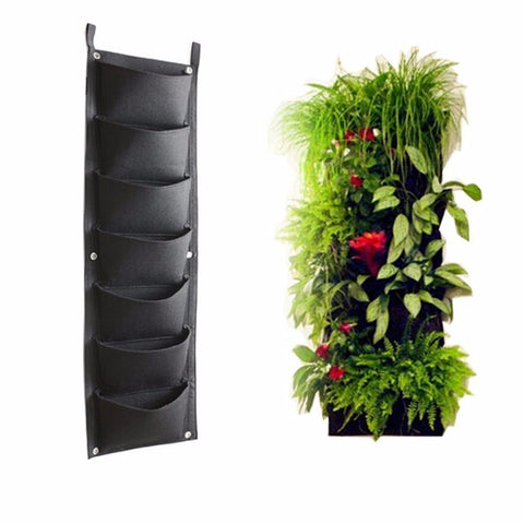 7 Pockets Outdoor Indoor Vertical Garden Planting Bag