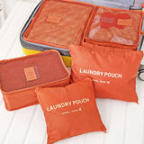 Polyester Packing Travel Bag Waterproof 6pcs