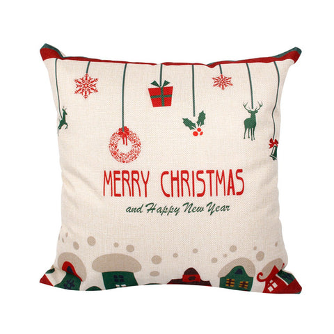 Merry Christmas Decorations Cover Pillow Case