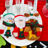 Snowman Santa Cutlery Suit Knifes Folks Bag