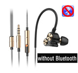 Original DZAT DT- 05 Dual Driver Bluetooth Earphone Sport Bass Stereo Headset