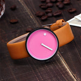Vansvar Brand Minimalist Style Wristwatches Creative Men Women Design Face Quartz Watches Gift Clock.