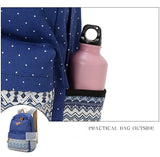 Fashion Canvas Backpacks Student School Bag