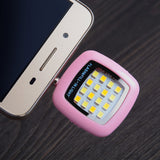 Mobile Phone LED Flash Light Adjustable Fill light For iPhone 7 6s and Android Phones Mini Selfie Sync Flashlight 16 LED Lights.