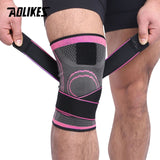 AOLIKES 1PCS 2019 Knee Support Professional Protective Sports Knee Pad Breathable Bandage Knee Brace.