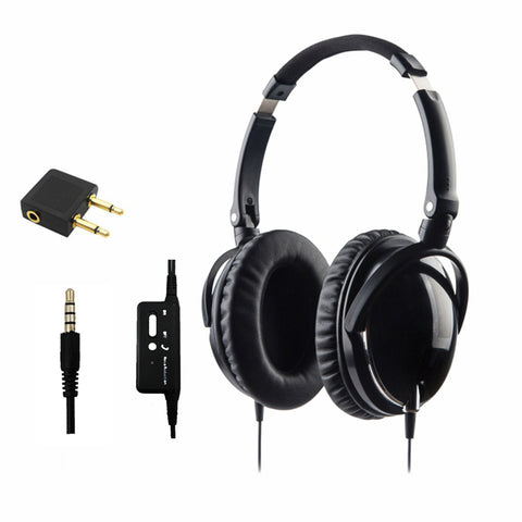 Active Noise Cancelling Headphones With Mic Foldable