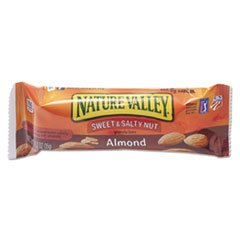 ** Nature Valley Granola Bars, Sweet & Salty Nut Almond Cereal, 1.2oz Bar, 16/Box
