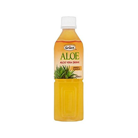 Grace Aloe Vera Water Mango 500ml (Pack of 2)
