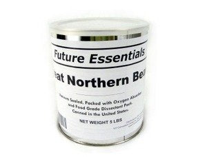 1 Can of Future Essentials Great Northern Beans, Dried, #10 Can, 5 lbs Net Weight