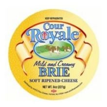 Coeur Royale Mild and Creamy Mini Brie Cheese, 8 Ounce -- 6 per case.