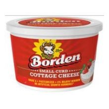 Borden Small Curd Cottage Cheese, 16 Fluid Ounce -- 6 per case.