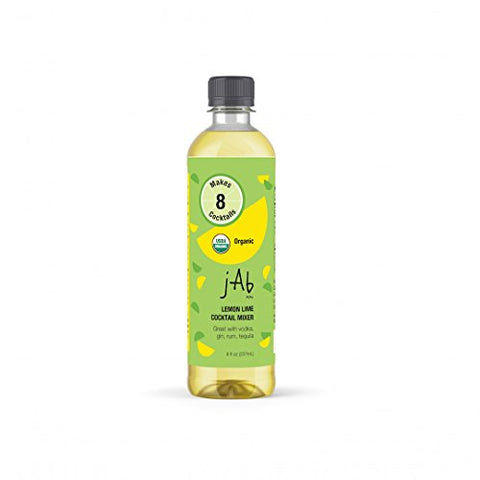 JABnow Organic Lemon Lime Cocktail Mixer
