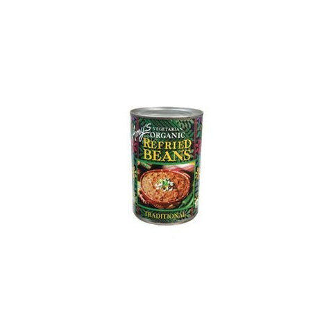 Amy's Organic Refried Beans, 15.4-Ounce Cans ( Value Bulk Multi-pack)(PACK OF 144)