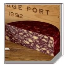 Belton English Port Wine Derby Cheese, 9 Ounce -- 6 per case.