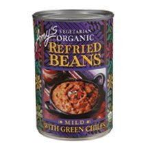Amy's Organic Refried Beans w/ Green Chiles Mild, 15.4 oz