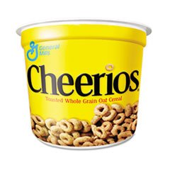 * Cheerios Breakfast Cereal, Single-Serve 1.3oz Cup, 6 Cups/Pack