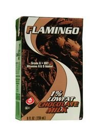 Flamingo, chocolate milk 1% lowfat