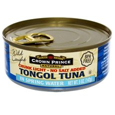 Crown Prince Natural Chunk Light Tongol Tuna In Spring Water 48x 5Oz