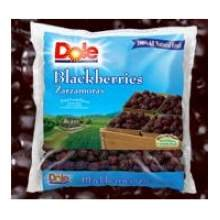 Dole Whole Individual Quick Frozen Blackberry Fruit, 5 Pound -- 2 per case.