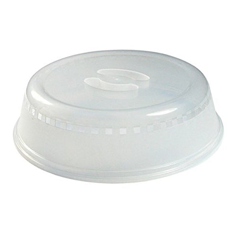 Kitchen Collection 10 inch Microwave Food Cover-Clear-02739