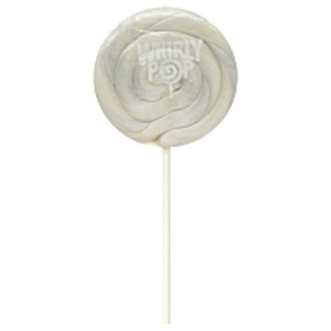 Pearl White Vanilla Whirly Pops 1 Lollipop