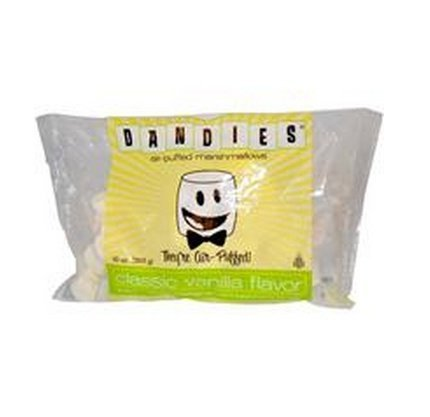 1 Piece of Dandies, Air-Puffed Marshmallows, Classic Vanilla Flavor, 10 oz (283 g) - Vegan