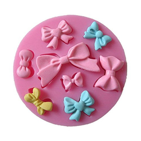 1 X 8 Mini Bows Silicone Mould Fondant Sugar Bow Craft Molds DIY Cake Decorating