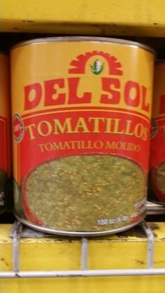 Del Sol Crushed Tomatillos 100 Oz (6 Pack)