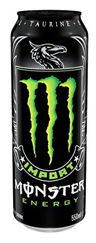 Monster Energy Drink, Import Light, 18.6 Ounce (Pack of 12)