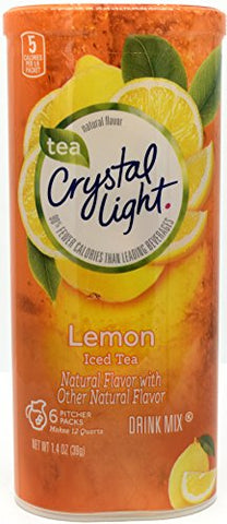 Crystal Light Lemon Iced Tea Drink Mix, 12-Quart Canister (Pack of 8)