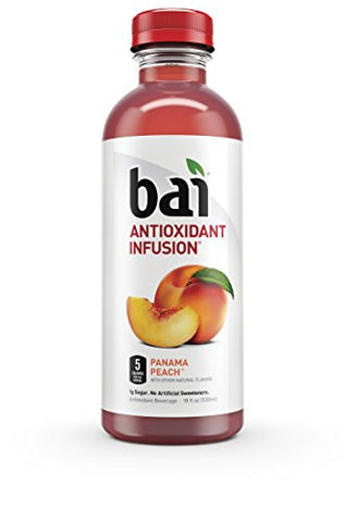 Bai Panama Peach, Antioxidant Infused Beverage, 18 Ounce (6 Bottles)