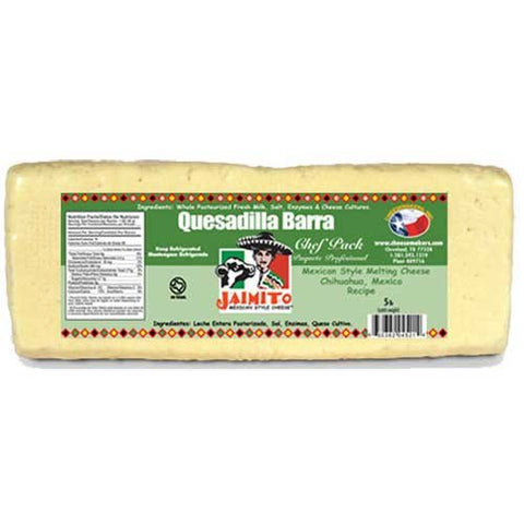 Cheesemakers Quesadilla Barra Chihuahua Cheese Loaf, 5 Pound -- 2 per case.