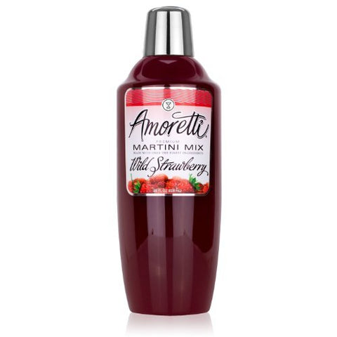 Amoretti Premium Martini Cocktail Mix, Wild Strawberry, 28 Ounce by Amoretti