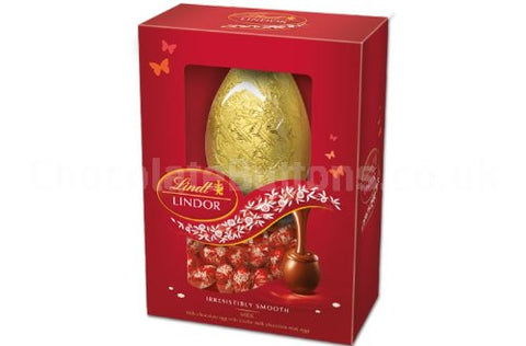 Lindt Luxury Easter Eggs Boxed Lindor Milk Chocolate Red Single