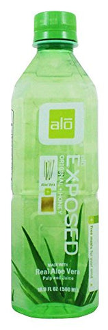 ALO - Original Aloe Drink Exposed Aloe + Honey - 16.9 oz. (Pack of 3)