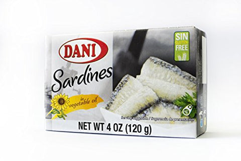 Dani Sardines ( Pack of 50 ) in Vegetable Oil Canned 4 oz ( 120 g)