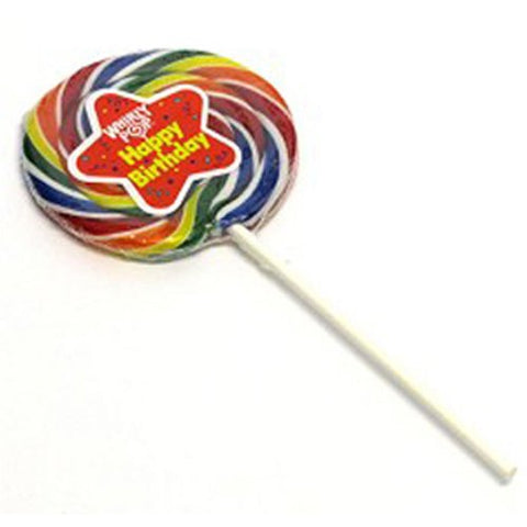 Happy Birthday Rainbow Whirly Pop 1 Lollipop