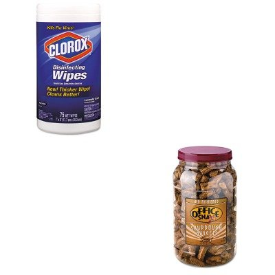 KITCOX01761EAOFX00080 - Value Kit - Office Snax Pretzel Assortment (OFX00080) and Clorox Disinfecting Wipes (COX01761EA)