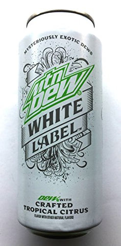 Mountain Dew White Label - Crafted Tropical Citrus - 16 fl.oz. (Pack of 8)