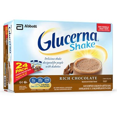 Glucerna Shakes Rich Chocolate Shake - 8 fl. oz. - 24 ct. (pack of 6)