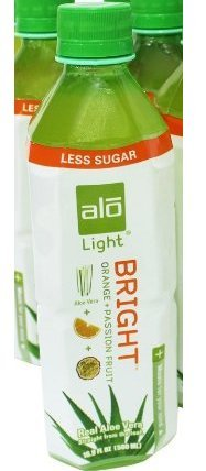 ALO - Original Aloe Drink Bright Light Aloe Vera + Orange + Passion Fruit - 16.9 oz. (Pack of 3)