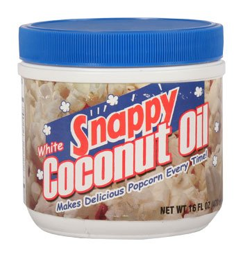 Popcorn Supplies - Snappy Clear/White Coconut Oil - 1lb Jar