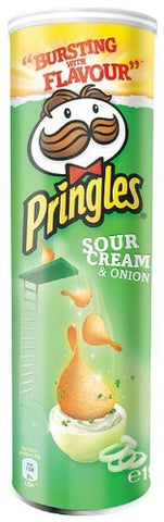 Pringles Sour Cream And Chive Crisps 190 G (Pack Of 6)