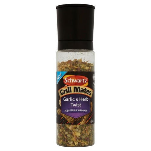 Schwartz Grill Mates Garlic & Herb Twist 155G Case Of 6