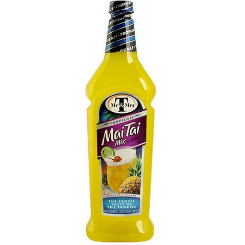 Mr. & Mrs. T's Mai Tai Mixer, 33.81-Ounce Bottles (Pack of 12)